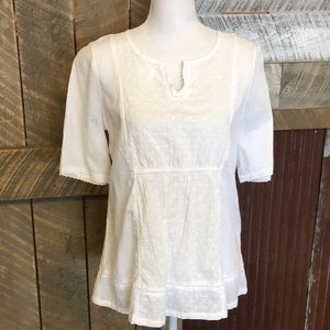 GH Bass white cotton top, size S